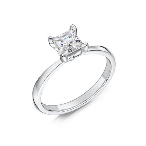 0.4 Carat GIA GVS Diamond solitaire 18ct White Gold. Princess cut. Engagement Ring, MWSS-1192/040